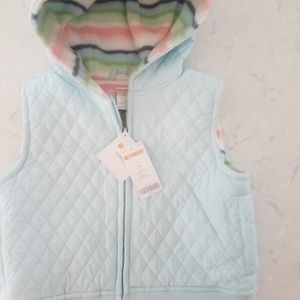 Girls Gymboree reversible vest NWT